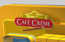 Cafe Creme Airport display